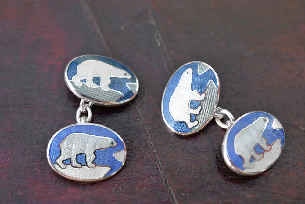 Kobold_polar_bear_enamel_cufflings_1